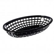 Black Oval Basket 24 x 15 x 4.5cm