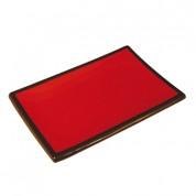 Black & Claret Melamine Sushi Platter 21 x 14.5 x 2cm