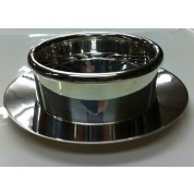Butter Dish and Strainer 11.5cm Silver plated