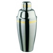 Cocktail Shaker with Gold Trim 57cl 18/10 Stainless Steel