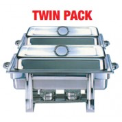 Chafing Unit Stainless Steel Full Size Economy TWIN PACK