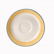 Rio Yellow Saucer Slimline 15.25cm
