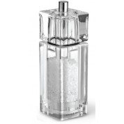 Cube Salt Mill 14.5cm Acrylic Clear Precision
