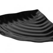 Black Melamine Curved Wavy Platter 27 x 37.5 x 4cm