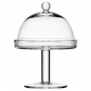Vienna Cakestand & Dome 23.5cm (Height 34.5cm. Dome 20.5cm)
