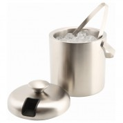 Insulated Ice Bucket Stainless Steel and Tong 1.2 Litres