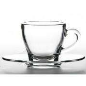 Ischia Cappuccino Saucer Glass 15cm