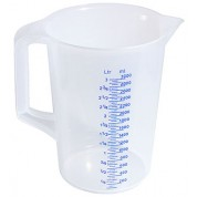 Graduated Measure 3 Litre Translucent Polypropylene. Heat Resistant up to 125C