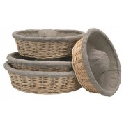 Matfer Fermenting Crown Dough Basket With Cloth 100% Linen Canvas 32 x 9cm