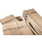 Matfer Dough Fermenting Cloth Linen Double HemmedLength Suitable For Parisian Bread(Pack of 10)60cm