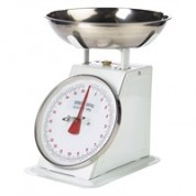 Analogue Scales 20kg. Graduated in 50g Includes Stainless Steel Bowl