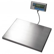 Salter Brecknell Bench Scale WS60Power Required: Battery or Mains 13Amp Plug.Capacity 130lbs-60kg. Stainless Steel. Low Profile Platform.Mounted on 4 Anti Slip Rubber Feet. Display Pod Featuring 17mm High LCD Digits.Readings in Either Metric or Imperi