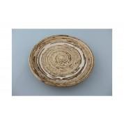 Oriental Range Plate Concentric Rings Cream 19.5cm