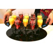 Champagne/Wine Glass Tray with Base Clear 50 x 32.5cm To Hold 12 Glasses