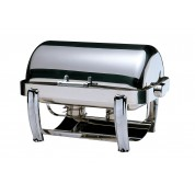 Oblong Roll Top Full Size Chrome Plated Legs 18/10 Stainless Steel 72 x 41.5 x 40cm (LxWxH)
