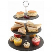 Slate 3 Tier Cake Stand  30 x 34.3cm (Dia x H)