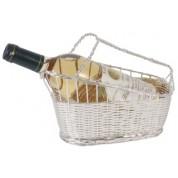 Wine Basket 24 x 11 x 18cm 0.5 micron silver plated