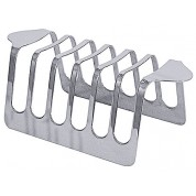 Toast Rack For 6 Slices 18/10 Stainless Steel Mirror Polished Finish 14 x 5 x 6cm (WxDxH)
