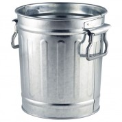 Galvanised Steel Miniature Bin 14 x 12 x 15cm
