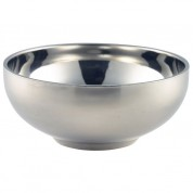 Doubled Walled Presentation Stainless Steel Bowl 13cm