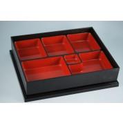 Oriental Range Bento Box Plastic Lacquer, with lid 31 x 26 x 6.5cm