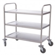 3 Tier Small Clearing Trolley 82.5 x 71 x 40.5cm