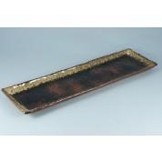 Oriental Range Oblong Platter Red/Black 50 x 16cm