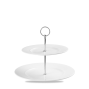Churchill Alchemy Plater Towers Two Tier Plate Tower 28 x 22cm