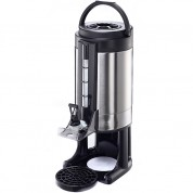 Vacuum Beverage Dispenser 6.5 LitresShatterproof Stainless Steel Interior18/10 Stainless Steel. Brushed Finish.Capacity: 32.5 Cups.  Detachable Drip Tray.Includes 2 replacement Viewing Gauge Glass Tubes & Cleaning Brush56 x 23cm (HxW)