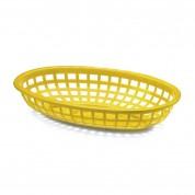 Yellow Oval Basket 24 x 15 x 4.5cm